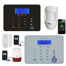 infrared burglar gsm home security 8 zone wireless alarm control panel and wired zones