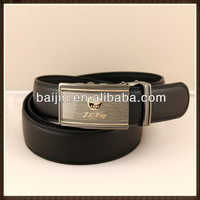 Own factory with latest men's cow Hide/genuine leather belts with automatic buckle