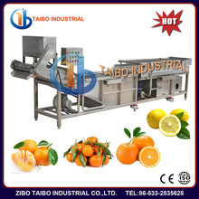 High pressure spray fruit lemon/orange washing machine, fruit lemon/orange spray gun washing machine