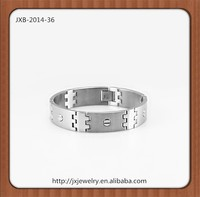 New trend design bandel bracelet,wide men's stainless steel bracelet
