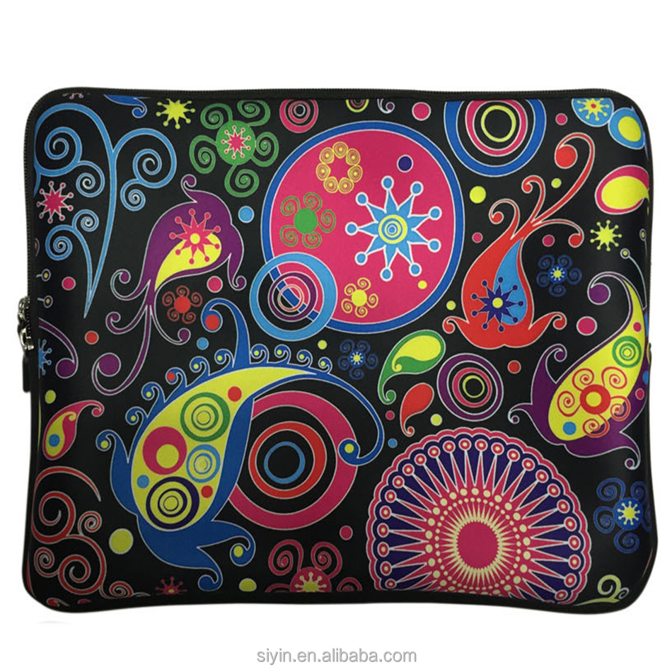 new 2017 computer accessories 13inch soft neoprene laptop sleeve notebook hand bag fashion color picture customized
