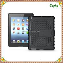 Factory Wholesale Hard Case Shell Plastic Hybird Combo Tablet Case With Stand For ipad 2 3 4