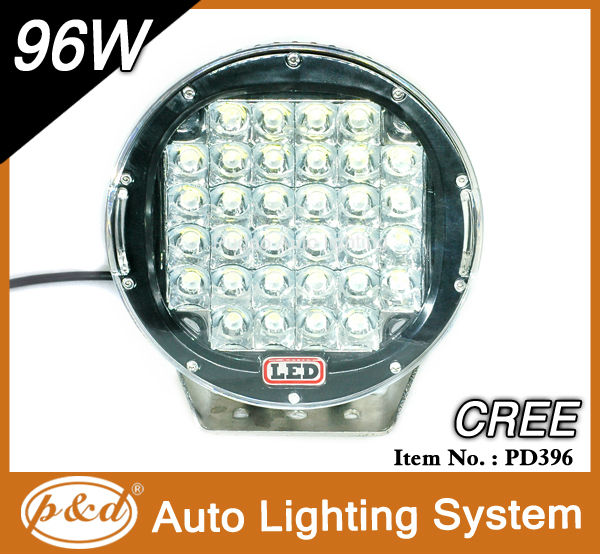 High quatity 96W 10-30V round LED working light outdoor LED driving light