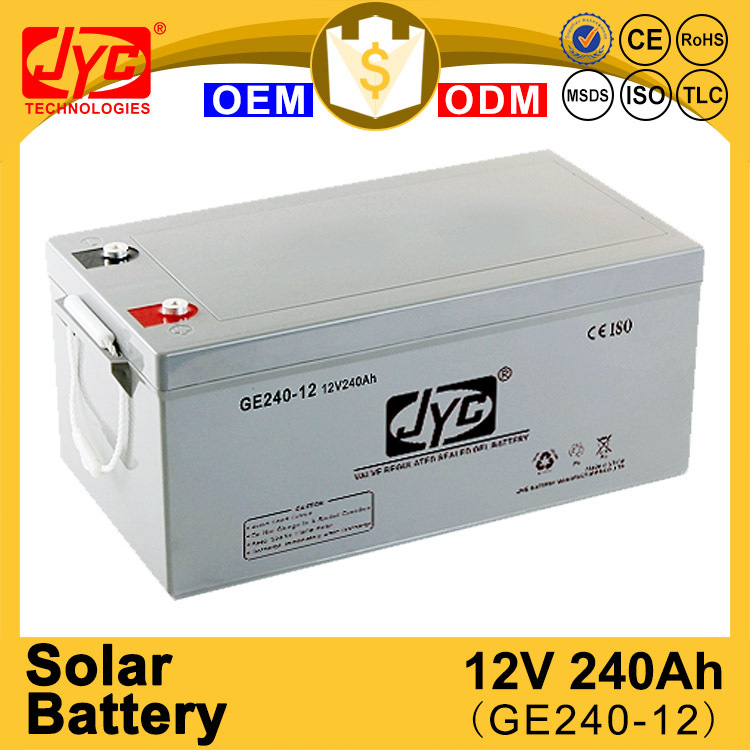 novel product sealed deep cycle solar battery 12v 240 ah