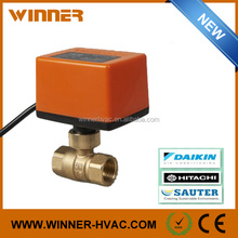 Safety Mini Water Brass 2 Way Electric Motorized Floating Control Ball Valve