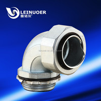 Right angle zinc pipe joint male threaded style pipe union