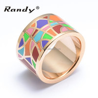 Cheap Wholesale New Arrival Stainless Steel Enamel Finger Gold Jewellery Rings