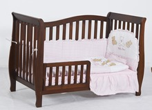 2016 Portable Pine Wood Folded Baby bed Wooden Baby Crib Baby Cot