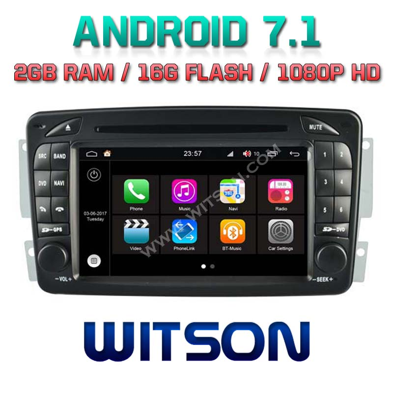 WITSON S190 ANDROID 7.1 CAR DVD PLAYER FOR MERCEDES BENZ C CLASS W203 2000 2004 CLK W209 <strong>W163</strong> W639