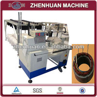 Multi-head motor stator coil winding machine