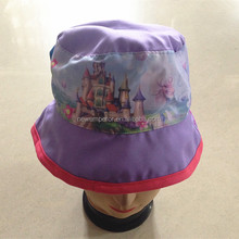100% cotton summer custom print bucket hat for children