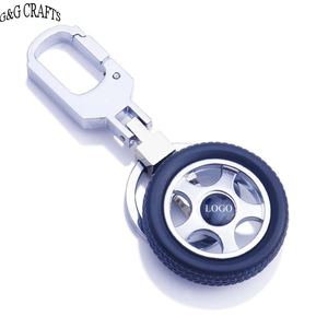 Factory outlet Custom Logo 3D Car Tire Key chain Tyre Key ring