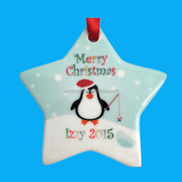 color galzed star tree ornament recycled christmas decoration