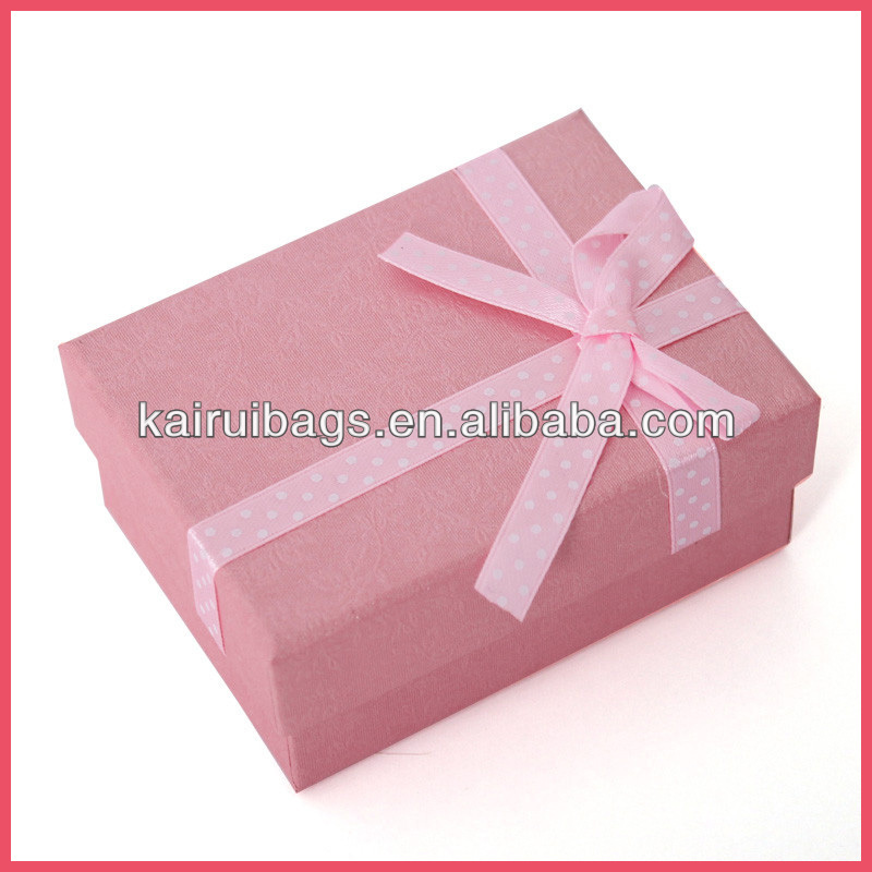 2014 hot sell fancy pinky lady gift wrap box for watch