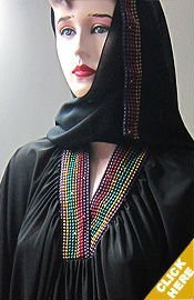 Islamic Clothing Dubai Abaya Polka Design