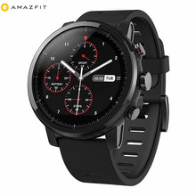Black Android /iphone App Amazfit Stratos Pace 2 Multisport <strong>Smart</strong> <strong>Watch</strong> Global Version for Men