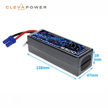 11.1v 6500mah 60C li-polymer rc car battery pack