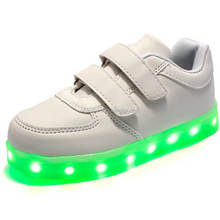 2016 Latest design sneakers led shoes, led flashing shoes for couples