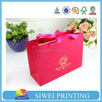 2015 Wholesale customized handmade photo paper packaging bag beautiful with ribbon
