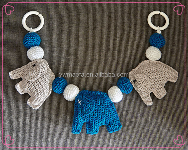 Wholesales Baby 100% Handmade Crochet Animal Pacifier Clip Teether Toys