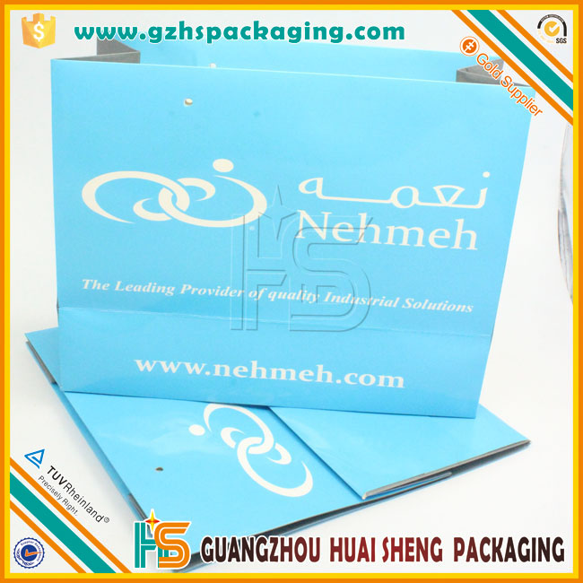 Wholesale custom logo paper packaging gift bag with handles