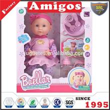 12.5 inch pretty doll toys with hand cover face for girls