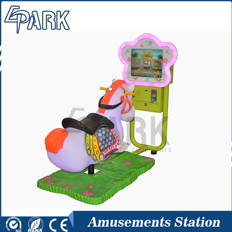 Newest hot sale horse swing car game machine/coin operated horse kiddie rides