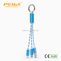 Hot selling 2 in 1 micro usb data cable for i5 i6 and android made-in-China Shen Zhen factory