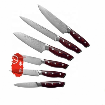 YF dropshipping damascus steel knife set kitchen stainless kitchen blank blade knife