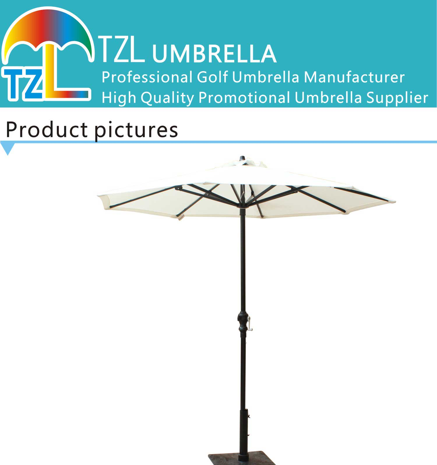 2014 hot selling big aluminum garden umbrella outdoor umbrella