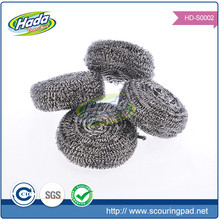 Non scratch sparkle stainless steel scourer pad for cleaning