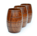 Creative Vintage Solid Wood Beer Mug Tonneau Shaped Cup