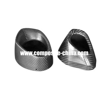 3k large diameter carbon fiber exhaust pipe with high performance