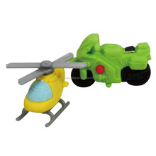 3D Aircraft/Motorcycle Accessary Erasers PK1 novelty design high quality