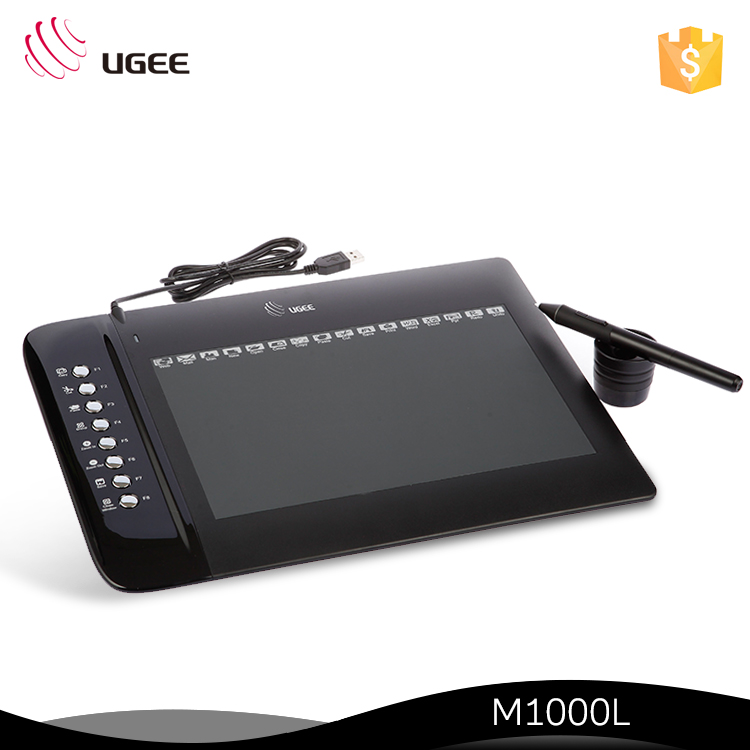 Ugee 10X6 Inch 4000 LPI 2048 Levels M1000L Slim Drawing Graphics Tablet