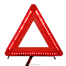 Portable Reflector Road Warning Triangle with LED