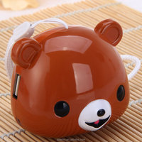 Audio Player Built-in FM Radio Support TF Card USB Input Cute Animal Bear Shape Sound Speaker