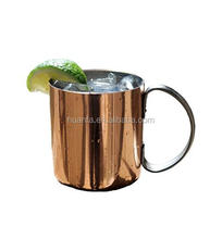 2017 News 16 Oz Capacity Hammered Copper Plated Stainless Steel Moscow Mule Mug