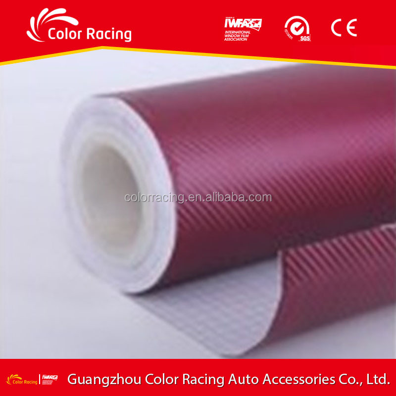 Air bubble free 3d carbon fiber vinyl wraps car interior stickers