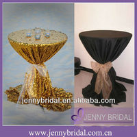 TC050E Sequin/Satin table covers,high bar cocktail table cloth for wedding