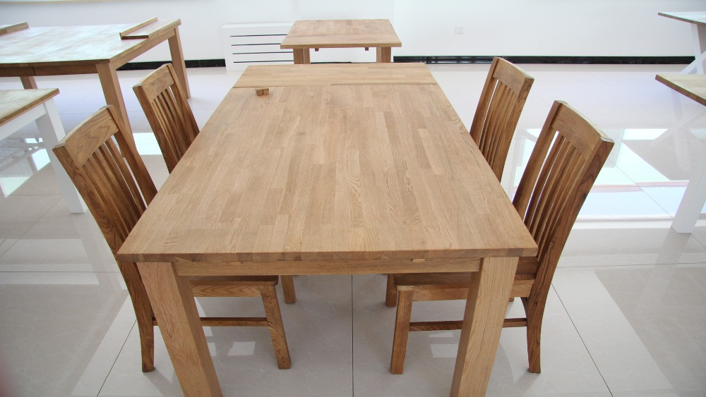 diningroom /restaurant oak solid wood dining table and chairs