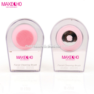 MAXECHO Facial Cleaning Brush Waterproof Sonic Cleaning System Portable Face Exfoliated, Rechargeable Cleaning Scrubber Massager