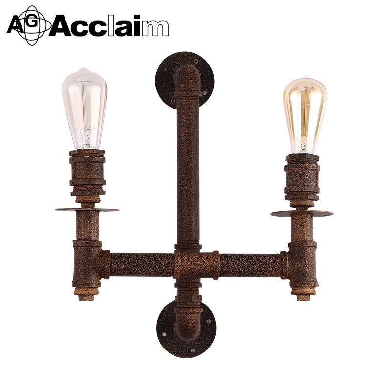 Vintage Wall Lamp Iron Retro Light Antique Loft Water Pipe Lighting