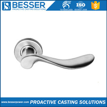 4Cr13 stainless 1.0401 cast iron 16MnCr5 steel silicone sol casting door handle with lock