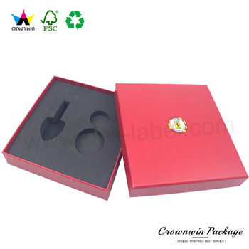 Large Velvet Keychain Gift Box Cardboard Gift Box With Lid Of Dongguan Crownwin