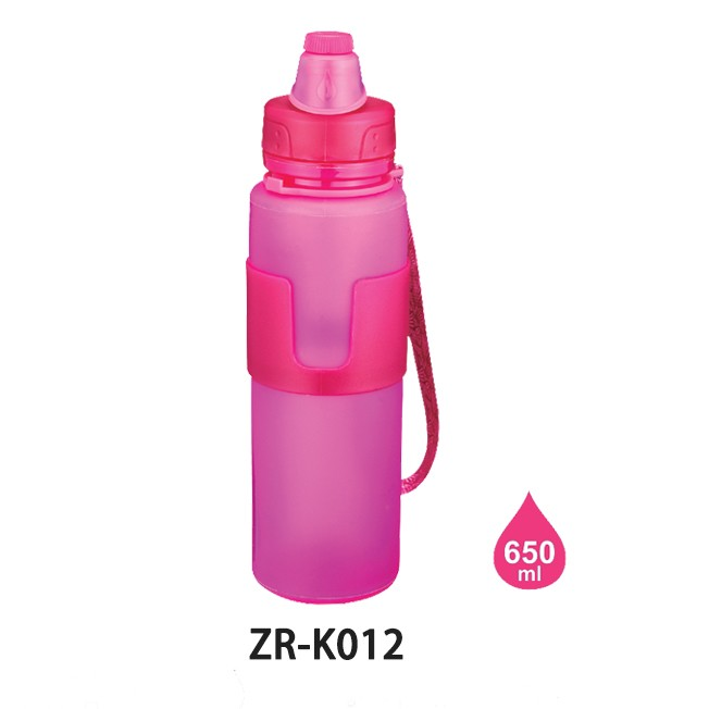 New Products High Quality 350ML BPA FREE Silicone foldable Sports Kids Water Bottle