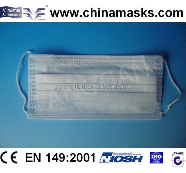 CE medical disposable non-voven face mask