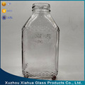 320ml Square clear juice drink glass bottle