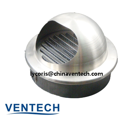 Aluminum Air Supply Ventilation Ball Weather Louver Air Conditioner Louver