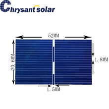 High Efficiency Small Poly Solar Cell piece for Small Solar Panels 52*30.6mm for DIY